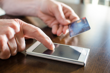 Online payment with a smartphone