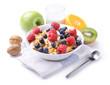 Breakfast with muesli and fruit - 77074116