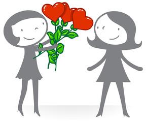 Amour - couple femme