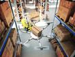 futuristic warehouse - 77074592