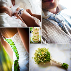Wedding moments' collage