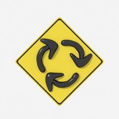 Segnale stradale USA con indicazione rotatoria