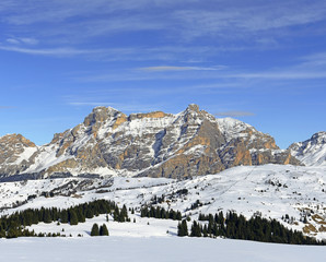 Panorama Alpe di Fanes, view from mountain huts Cherz