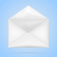 White crumpled Blank Envelope