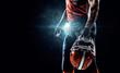 American football sportsman player in stadium - 77076182