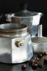 Closeup of the Pressure Safety Valve on the Italian Coffee Maker