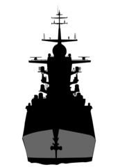 Warship on sea