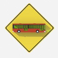Segnale stradale USA con indicazione bus