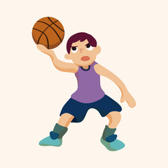 basketball player elements vector,eps