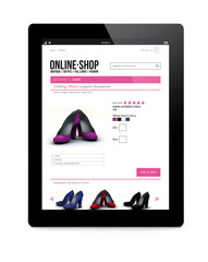 tablet pc with online shop