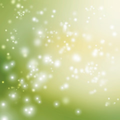 Green abstract lights background