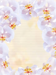 decorative ring of orchids with page booklet