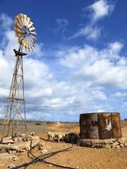 wind wheel at Gnaraloo Station, West Australia