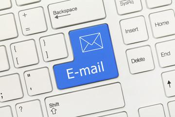 White conceptual keyboard - E-mail (blue key)