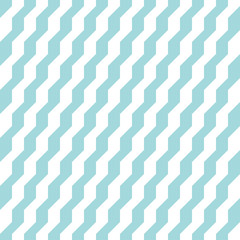Retro Seamless Pattern Stairs Turquoise