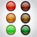 Traffic lights isolated on white - 77081110