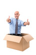 Businessman inside box