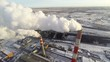 Coal-Burning Power Plant. Aerial.