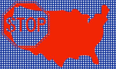 Mappa USA con indicazione STOP