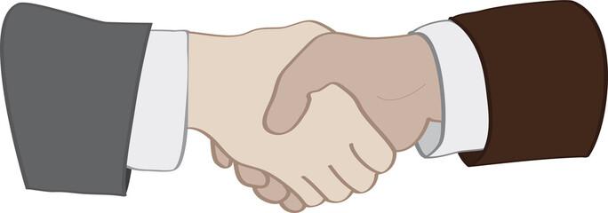 Partnerschaftliches Händeschütteln, Vektor