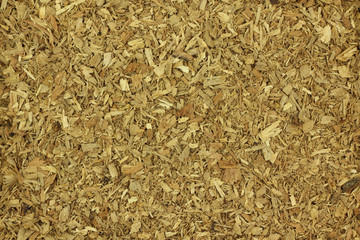 the dried wood chips abstract background