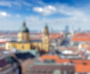 European city blurred defocused background