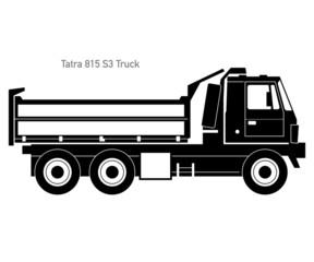 Tatra Truck - Black Silhouette