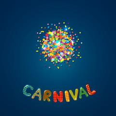 Carnival card with confetti