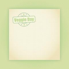 vintage notiz veggie day