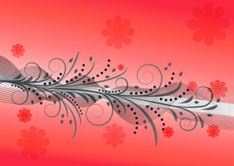 Design abstrakt rot