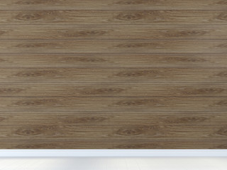 Background of wall with brown board a light floor