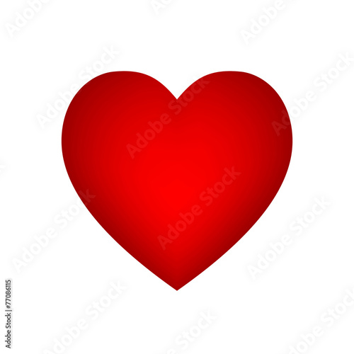 Vector red heart - 77086115