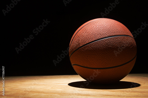 Leinwandbild Motiv Basketball on Hardwood 2015