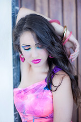 Beautiful model color