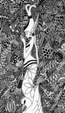 Bali Praying Woman Doodle Art poster