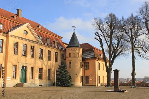 Leinwandbild Motiv Portalseite Schloss Stavenhagen (Mecklenburg-Vorpommern)