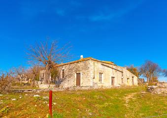 beautiful old house in Peleta village in southern Greece