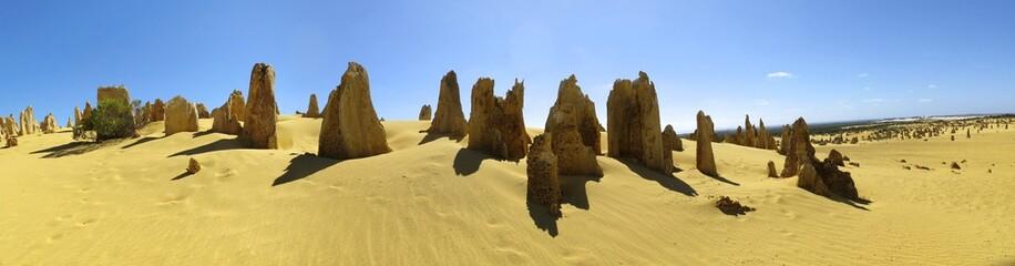 Pinnacles Desert, Nambung National Park, West Australia panorama