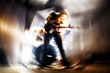 Tocando la guitarra. Fondo abstracto de música. Música rock - 77088745