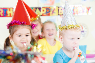 Celebrating Birthday. - Stock Image