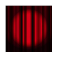 Theater curtain with spotlight