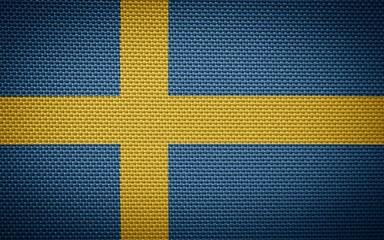 Swedish fabric flags