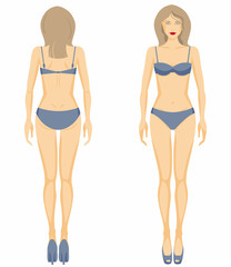 Vector woman body