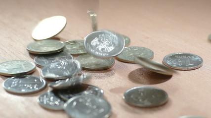 Падающий рубль (замедленная съемка)
