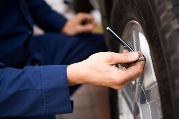 Mechanic: Focus on Tire Pressure Gauge