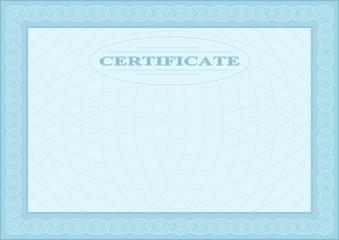 Blue blank document