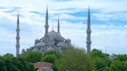 Sultan Ahmed Mosque time-lapse video. Istanbul, Turkey