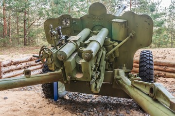 Obsolete artillery gun fired during World War II in Belarus