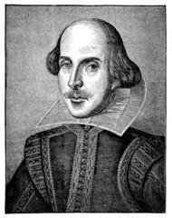 19th century engraving of William Shakespeare