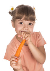 girl with the carrot